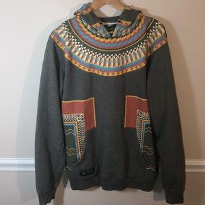 LRG Lifted Research Group Tribal Hoodie XL